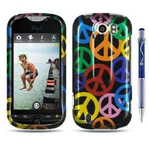 COLORFUL PEACE SIGN Crystal Snap On Phone Protector Hard Cover