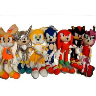 Sonic 7 X Large Plush Doll Stuffed Toy 15 inches   Complete Sonic Doll