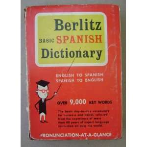 Vintage Berlitz Basic Spanish Dictionary   English to Spanish, Spanish
