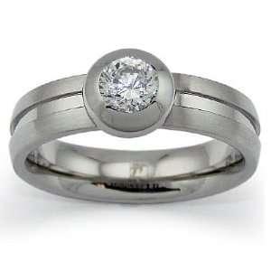 Stainless Steel Ring with CZ   Size 6 West Coast Jewelry Jewelry