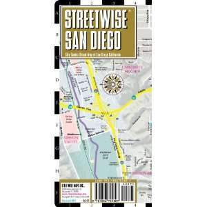 Streetwise San Diego Map   Laminated City Center Street Map of San