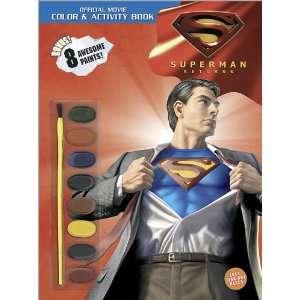 Superman Returns Color & Activity Book With Paints
