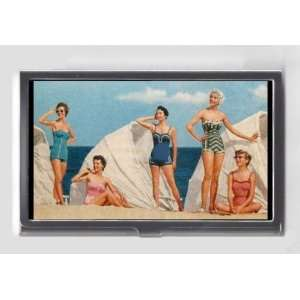 PIN UP GIRLS IN 1950s SWIMSUITS RETRO MODELS Credit/Business Card Case