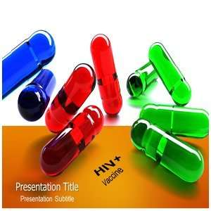 Hiv Vaccine Powerpoint Template  HIV Medicine Ppt Template  Medicine
