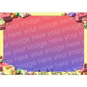 Candy Hearts Valentines Card template
