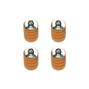 Jesus   Religious Christian   Tire Rim Wheel Valve Stem Caps   Orange