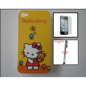 Hello Kitty Design Hard Back Shell Cover Case for iPhone 4