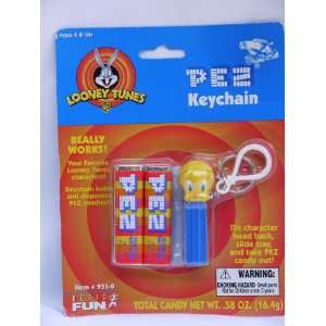 Looney Tunes Tweety Bird Pez Keychain 2000: Toys & Games