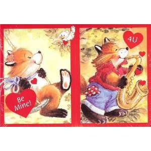 Fox Valentine Cards for Kids & Teacher with Scripture   2 Packages of