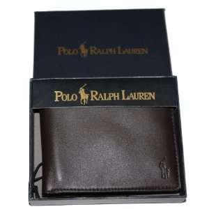 Lauren Brown Leather Men Bifold Wallet & Credit Card Holder MSP $120