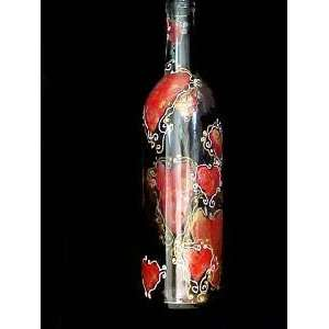 Design   Wine Bottle with Hand Painted Stopper
