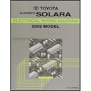2002 Toyota Camry Solara Wiring Diagram Manual Original Toyota Books