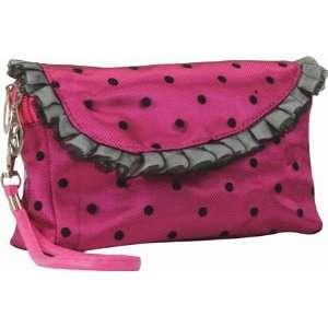 Rose Satin Darling Wallet Purse Make up Bag Wristlet