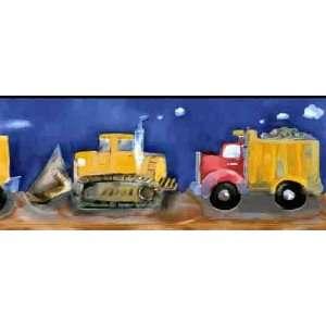 Construction Equipment Wallpaper Border