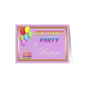Amaya Birthday Party Invitation Card Toys & Games