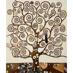 Oil Paintings Tree of Life Oil Painting Canvas Art Home & Kitchen