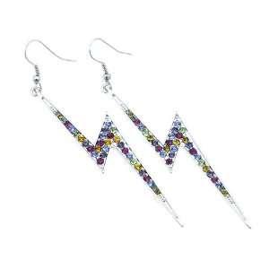 Inspired Multi color Crystal Lightning Dangle Earrings Jewelry