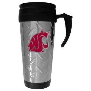 Washington State Cougars NCAA Diamond Plate Travel Mug