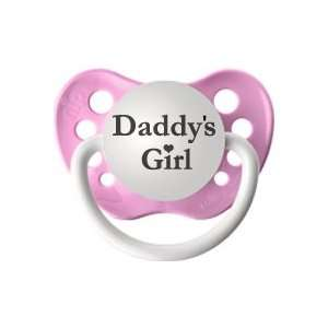 Personalized Pacifier   Daddys Girl Pink Baby