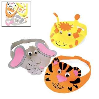Foam Zoo Animal Visor Craft Kit (1 dz) Toys & Games