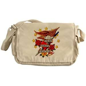 Khaki Messenger Bag Bald Eagle Death Before Dishonor: Everything Else