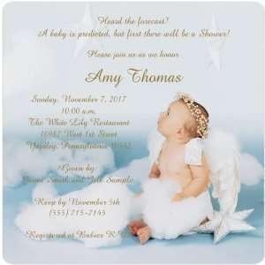 For Heavens Sake Magnet Medium Baby Shower Invitations