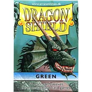 Dragon Shield Mini Card Sleeves Green 50 Count Toys