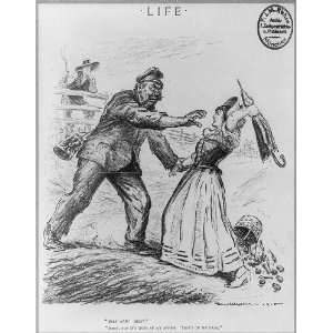 Civilization,savage Hun,Uncle Sam,attack,cartoon,William Walker,Life