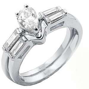 TqwSH027ZCH T10 CZ Wedding Ring Set (8): Jewelry