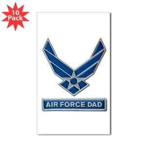 Sticker (Rectangle) (10 Pack) Air Force Dad