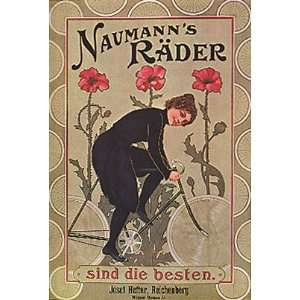 NAUMANNS RADER FLOWERS GIRL RIDING A BICYCLE BIKE CYCLES