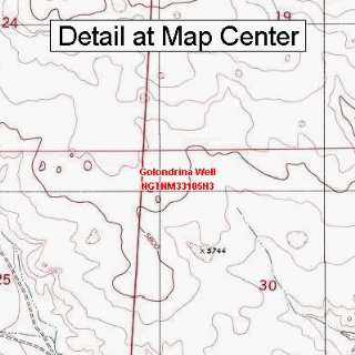 USGS Topographic Quadrangle Map   Golondrina Well, New