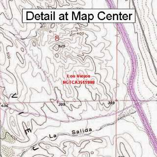 USGS Topographic Quadrangle Map   Los Viejos, California (Folded