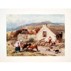 1906 Color Print Myles Birket Foster Scotland Highlands Scottish