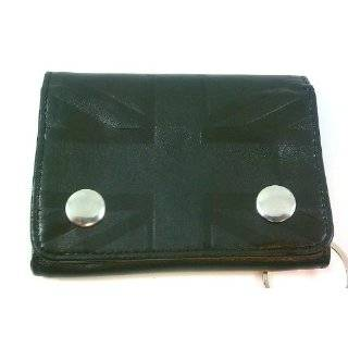 Ben Sherman Black Leather Embossed Union Jack Trifold Wallet