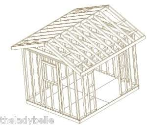 10X12 GABLE BACKYARD SHED, ALL OUR CUSTOM SHED PLANS CD