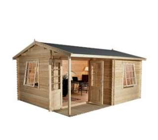 Greenacre Home Office Executive Log Cabin (Dressed for display only