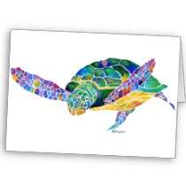 Sea Turtles from the Ocean Greeting Card by Whimzicals