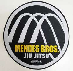 This is the official Mendes brothers Jiu jitsu patch from Bull Terrier