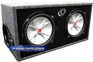 BOX 07DCVR12 KICKER CAR AUDIO 12 SUBS 2 OHMS BASS SUBWOOFERS SPEAKERS
