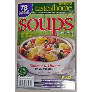 Taste of Home Soups Recipe Cards Catherine Cassidy  Books