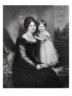 Queen Victoria as an Infant with Her Mother the Duchess of Kent, C