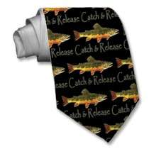 Brook Trout, Catch & Release Neck Tie by TroutWhiskers