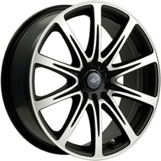 16 Machined Black Wheel ICW Euro 5x100 5x4.5 Rims