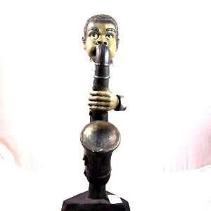 African American Jazz Musician Saxophone Player Figurine