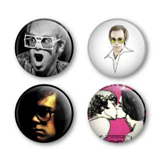 Elton John Badges Buttons Pins Tickets Vinyl Albums