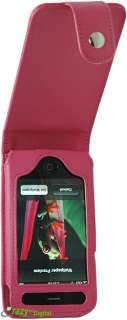 Premium Apple iPhone 3G and 3G S PINK Leather Case with belt clip