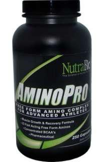 NutraBio Free Form Amino Acid Complex 250 Capsules 649908246600