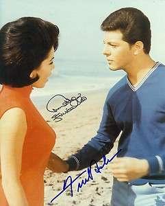 Autographed FRANKIE AVALON & ANNETTE FUNICELLO