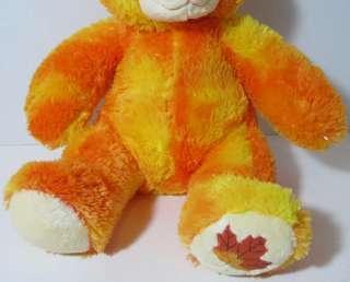 Build a Bear Workshop ORANGE AUTUMN TEDDY BEAR Stuffed Plush Animal